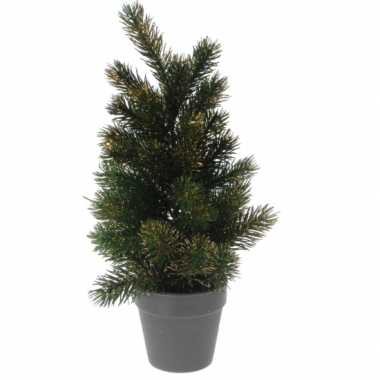 Bureau kleine kerstboom gouden glitters 40 cm