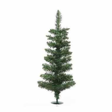 Groene kleine kunst kerstboom 60 cm met voet