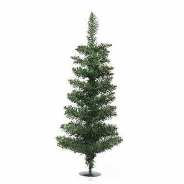 Groene kleine kunst kerstboom 75 cm met voet