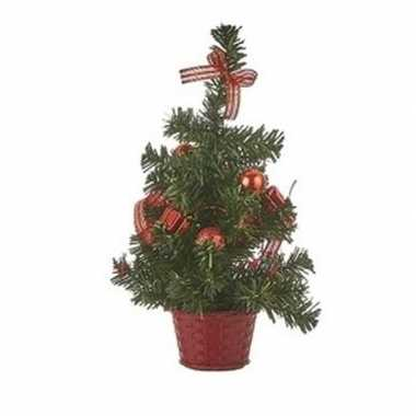 Kantoor kleine kerstboom rood 32 cm