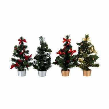 Klein kleine kerstboom rood zilver