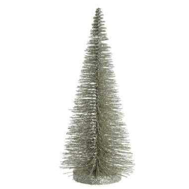 Kleine decoratie kleine kerstboom van 30 cm in het lichtgroen