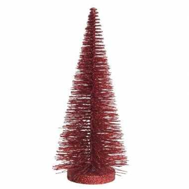 Kleine decoratie kleine kerstboom van 30 cm in het rood