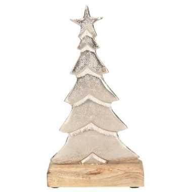 Kleine kerstboom decoratie alukleineum 24 cm