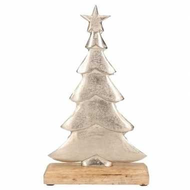 Kleine kerstboom decoratie alukleineum 30 cm