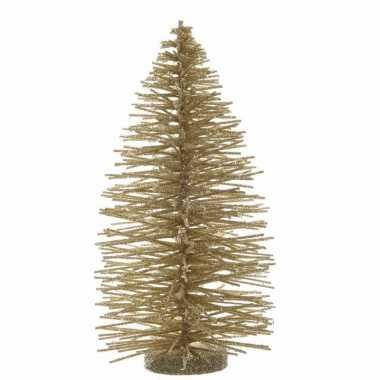 Kleine kerstboom glitter goud 35 cm
