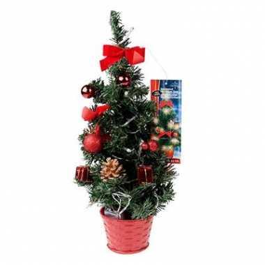 Kleine Kerstboom Met Verlichting Rood Kleine Kerstboom Nl