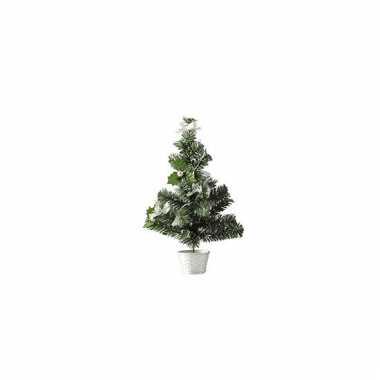 Kleine kerstboom versierd zilver 36 cm