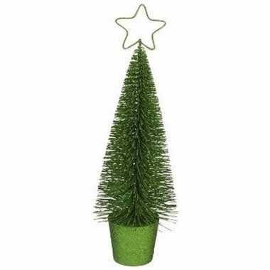 Kleine kerstmis decoratie boompje groen 10096804
