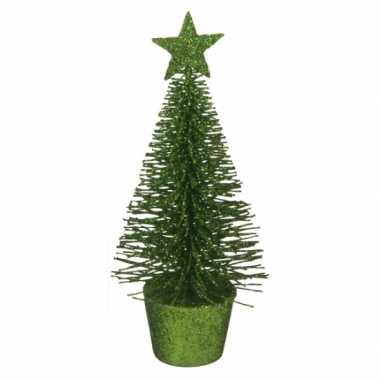 Kleine kerstmis decoratie boompje groen