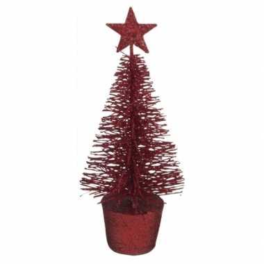 Kleine kerstmis decoratie boompje rood