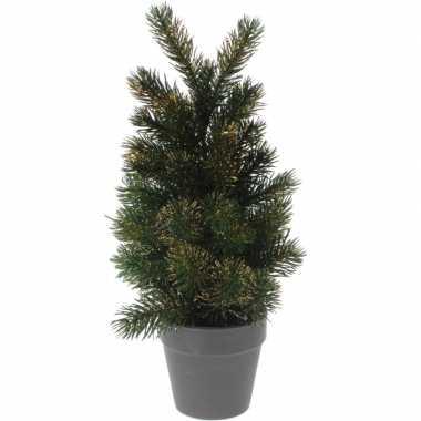 Kleine kleine kunst kerstboom 29 cm groen/goud