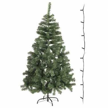 Kleine kleine kunst kerstboom 60 cm met gekleurde verlichting