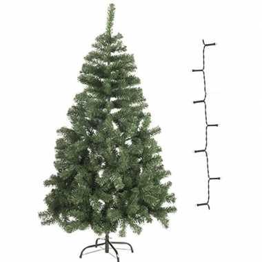 Kleine kleine kunst kerstboom 60 cm met warm witte verlichting