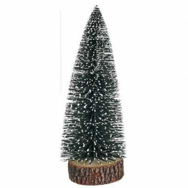 Kleine kleine kunst kerstboom met lampjes 28 cm