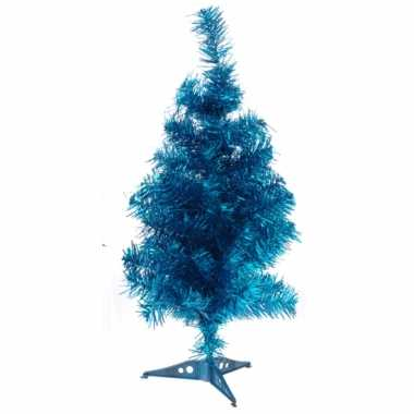 Kleine kunst kerstboom blauw 50 cm