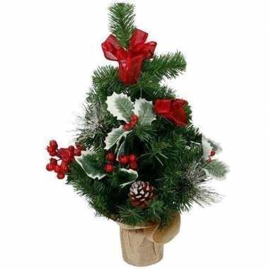 Kleine kunst kerstboom met versiering kerst decoratie 50 cm