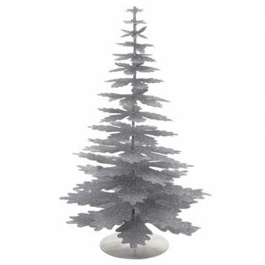 Kleine kunstboom kerst zilver glitter