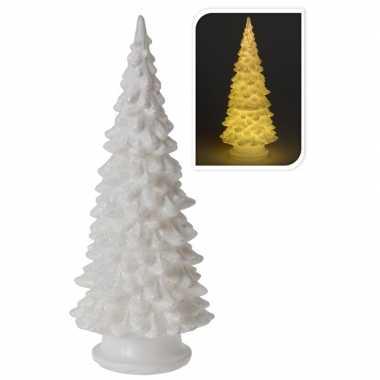 Kleine led kunst glitter kleine kerstboom 20 cm