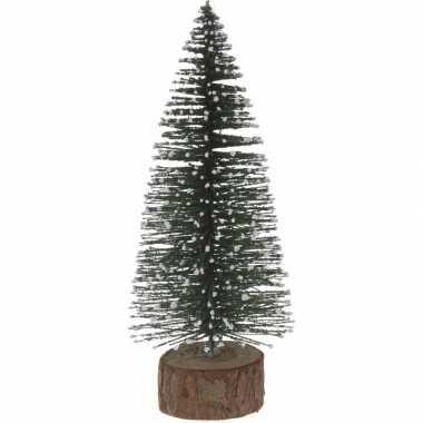 Kleine miniatuur kerstboom groen 25 cm