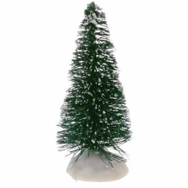 Kleine miniatuur kerstbooms groen 4 stuks