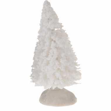 Kleine miniatuur kerstbooms wit 4 stuks