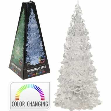 Kleur veranderende led kleine kerstboom 22 cm