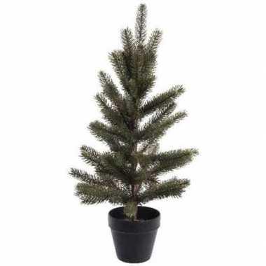 Namaak kleine kerstboom met pot 60 cm