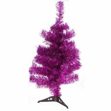 Roze kleine decoratie kerstboom 50 cm