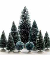 Kleine decoratie kleine kerstbooms 9x